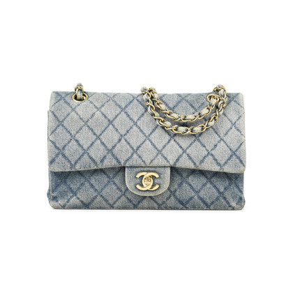 Authentic Vintage Chanel Denim Classic Flap Bag (PSS-004-00085)