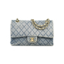Authentic Vintage Chanel Denim Classic Flap Bag (PSS-004-00085) - Thumbnail 0