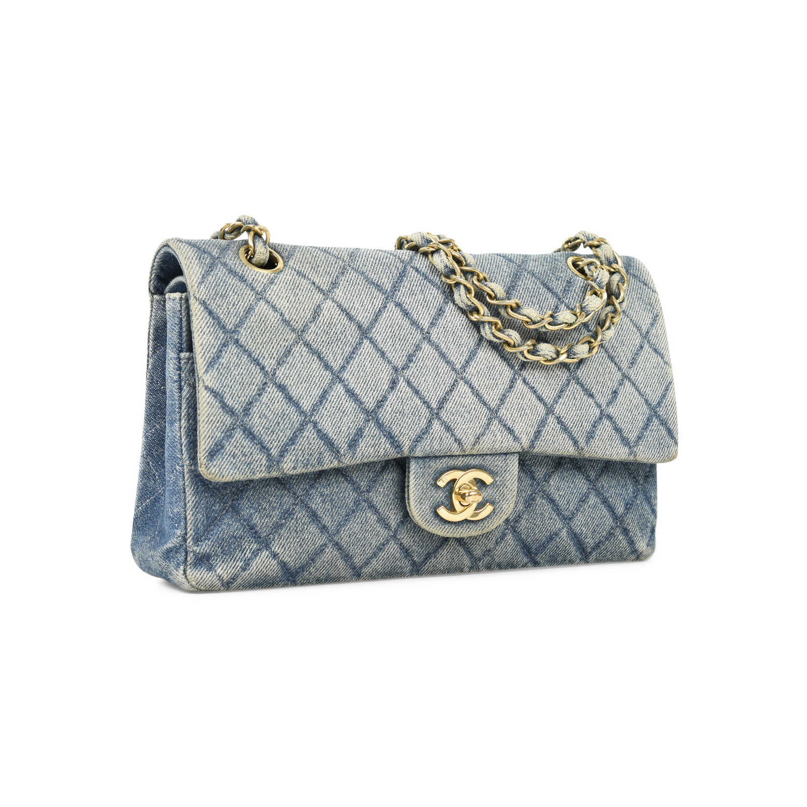0641d4d7a ... Authentic Vintage Chanel Denim Classic Flap Bag (PSS-004-00085) -  Thumbnail ...