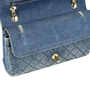 Authentic Vintage Chanel Denim Classic Flap Bag (PSS-004-00085) - Thumbnail 5