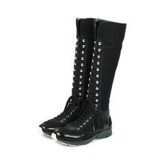 Chanel tweed sneaker boots 2?1528344717