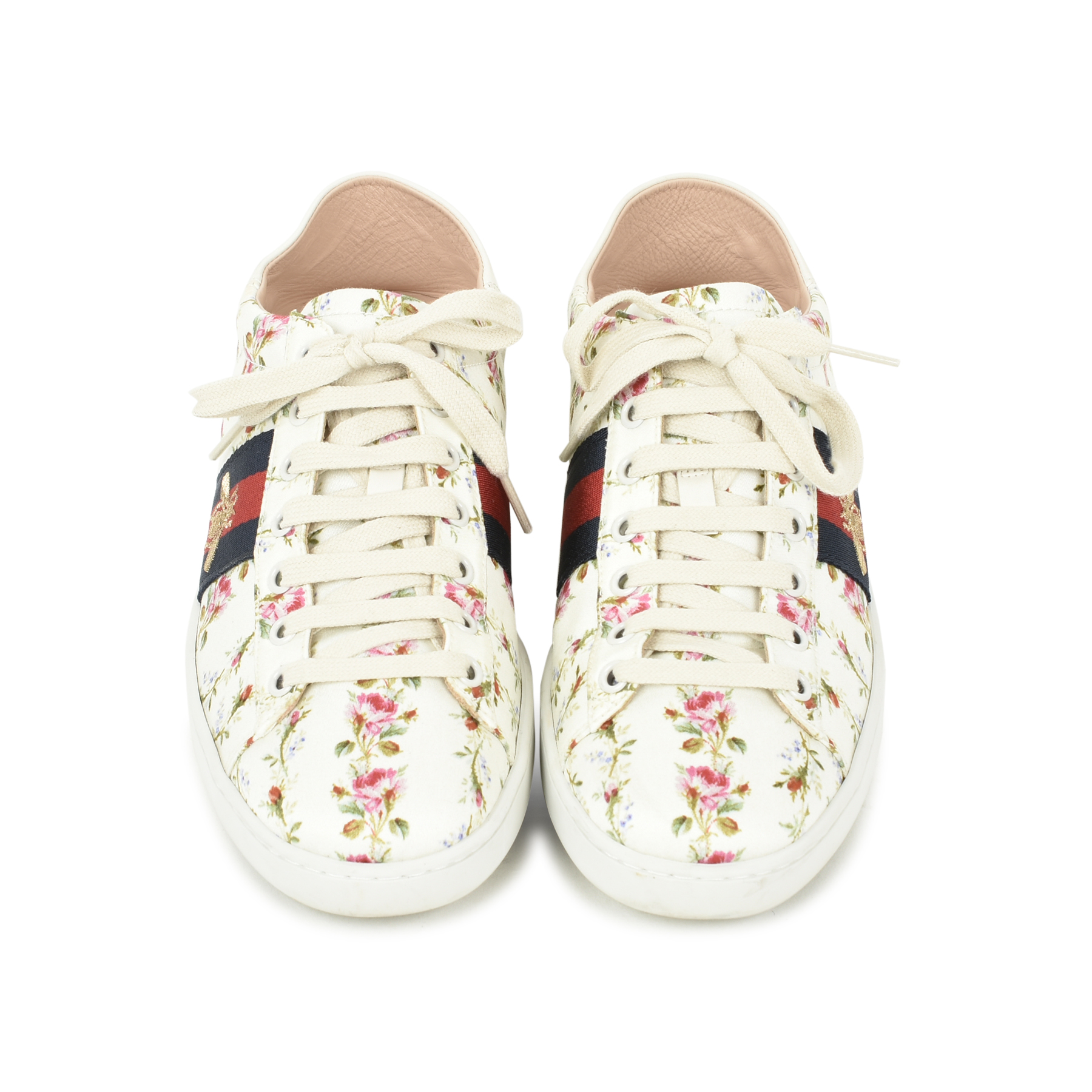Authentic Pre Owned Gucci New Ace Rose Sneakers (PSS-051-00339 ... c4cf6004e69d