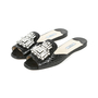 Authentic Second Hand Prada Embellished Crocodile-Embossed Mule Slides (PSS-051-00333) - Thumbnail 6