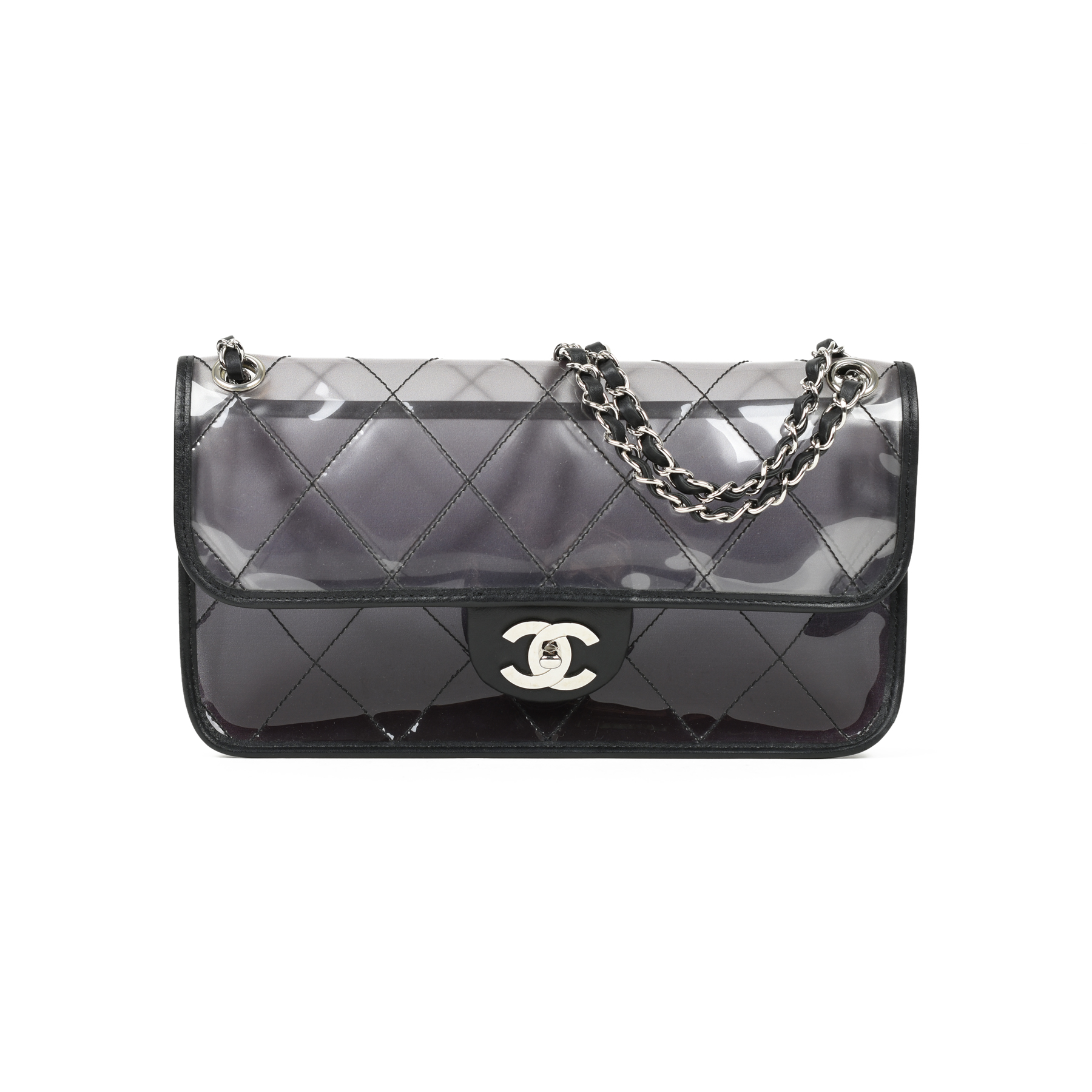 29e093450cd8 Authentic Second Hand Chanel PVC Naked Flap Bag (PSS-051-00328) | THE FIFTH  COLLECTION