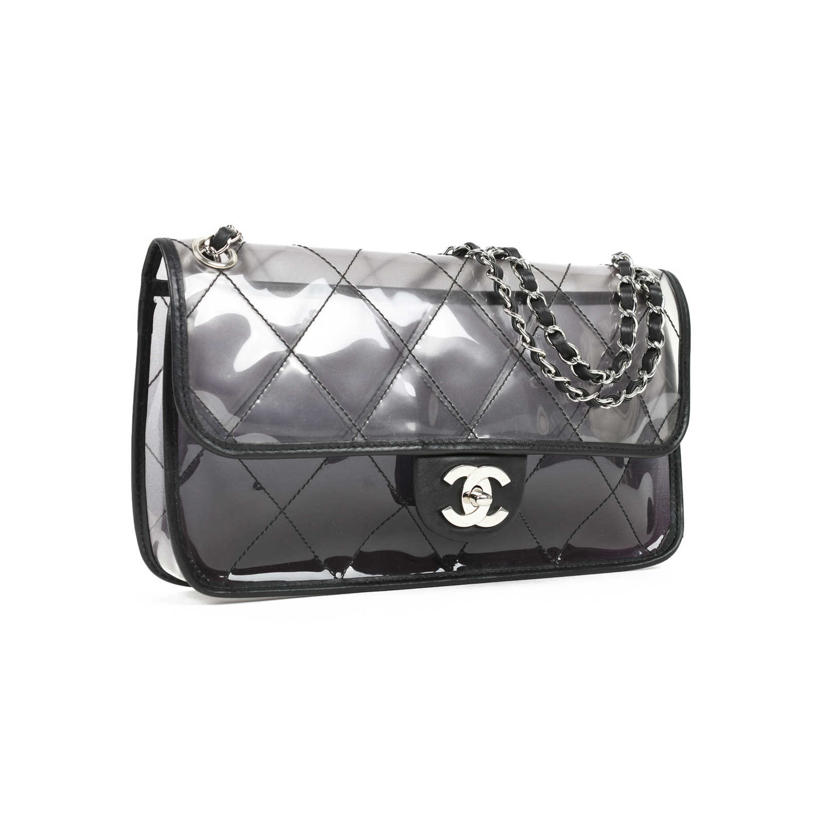 6131323eaac9 ... Authentic Second Hand Chanel PVC Naked Flap Bag (PSS-051-00328) ...