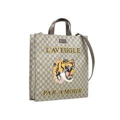 Gucci tiger embroidered gg supreme tote 2?1528345218