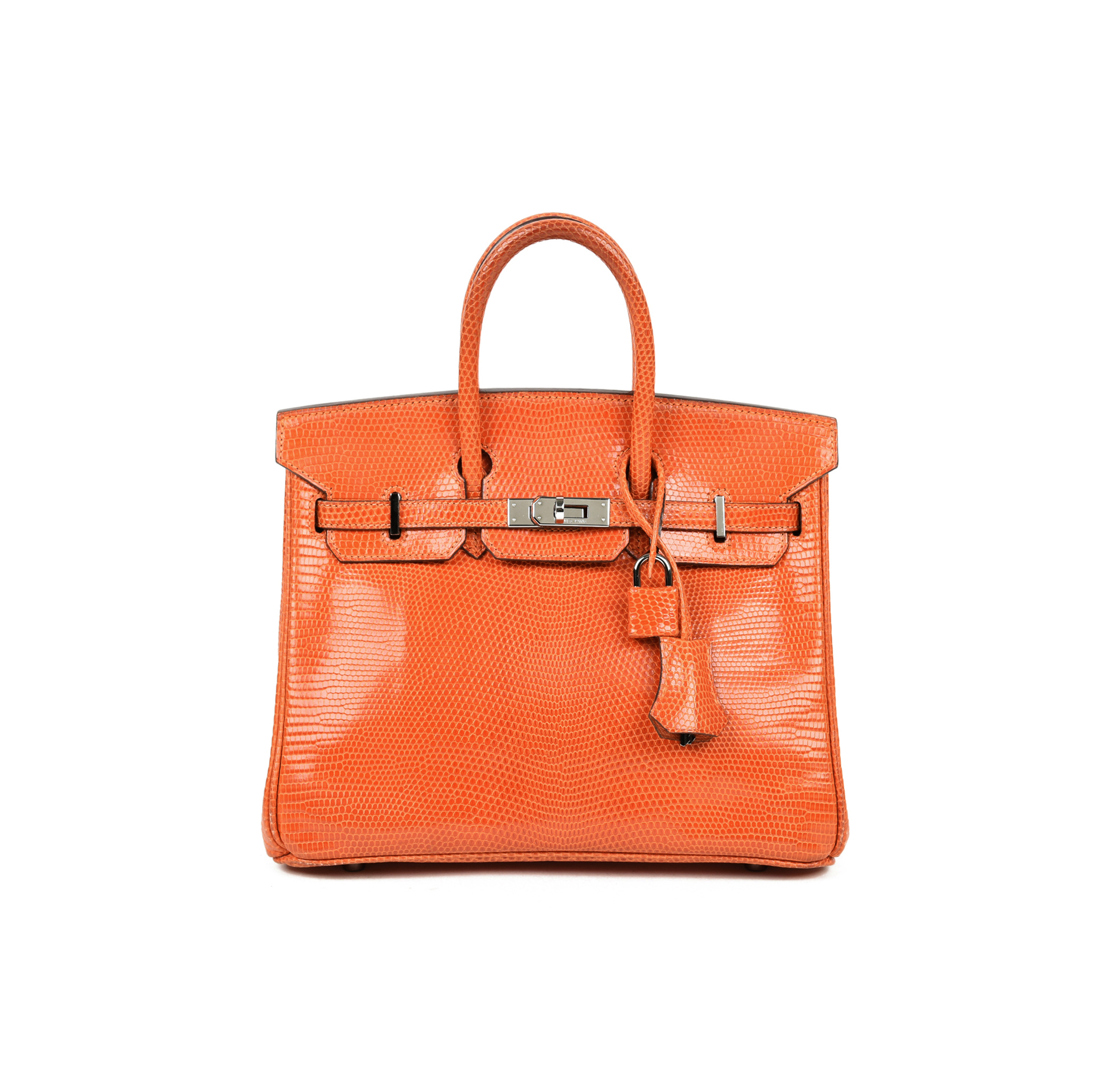 eb9f16f5d Authentic Second Hand Hermès Orange Lizard Birkin 25 (PSS-419-00003) - THE  FIFTH COLLECTION