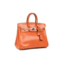 Hermes Orange Lizard Birkin 25 - Thumbnail 1