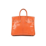 Hermes Orange Lizard Birkin 25 - Thumbnail 2