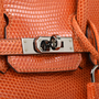 Hermes Orange Lizard Birkin 25 - Thumbnail 4