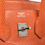 Hermes Orange Lizard Birkin 25 - Thumbnail 5