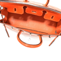 Hermes Orange Lizard Birkin 25 - Thumbnail 7