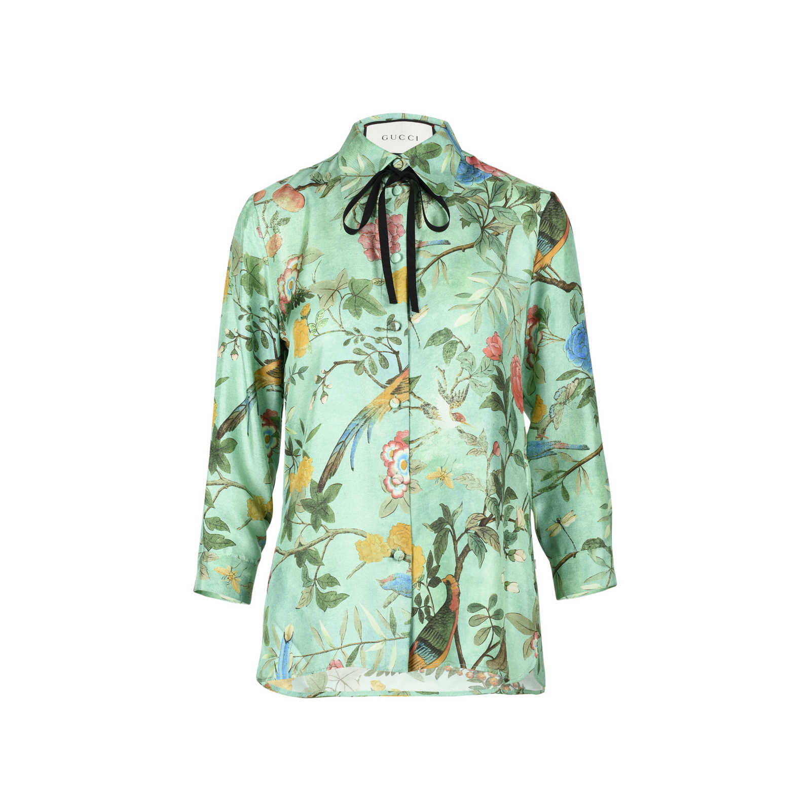 da0c0b78cf83d5 Authentic Second Hand Gucci Floral Silk Shirt (PSS-051-00359) - Thumbnail  ...