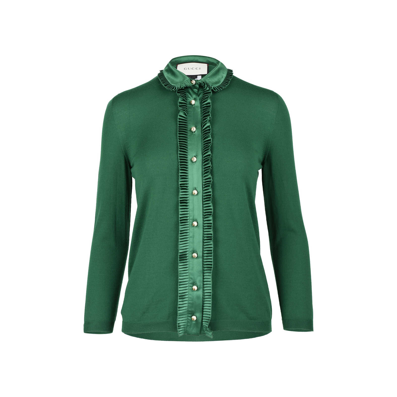 29807937e14 Authentic Second Hand Gucci Ruffled Knit Cardigan (PSS-051-00351) -  Thumbnail ...