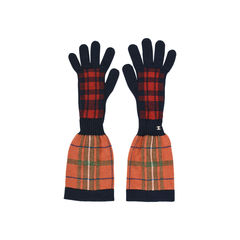 Chanel tartan knitted gloves 2?1528360775