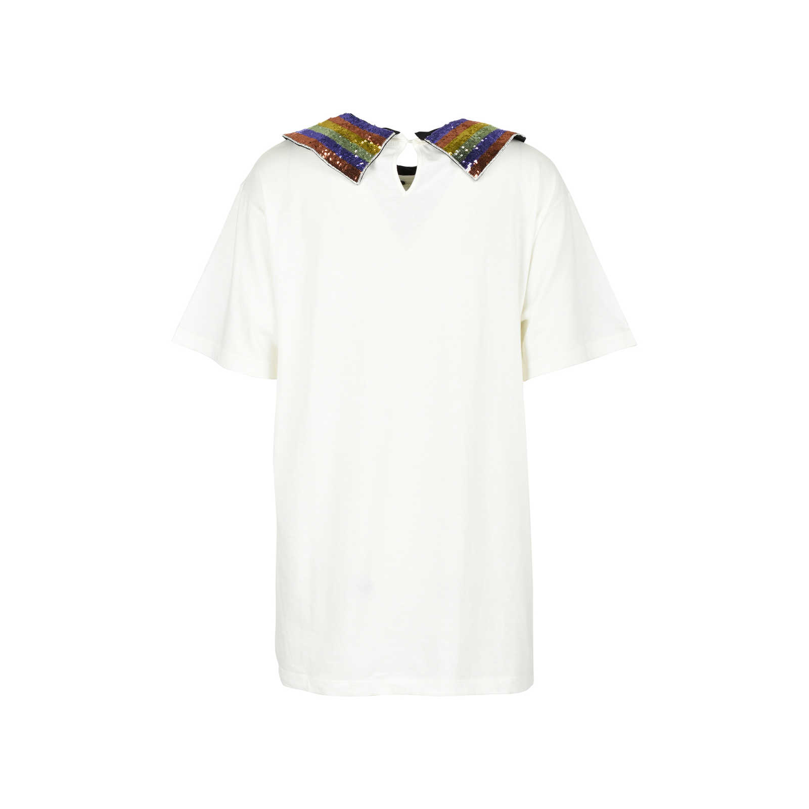 790432c7954 ... Authentic Second Hand Gucci Rainbow Logo Collar T-Shirt (PSS-051-00356  ...