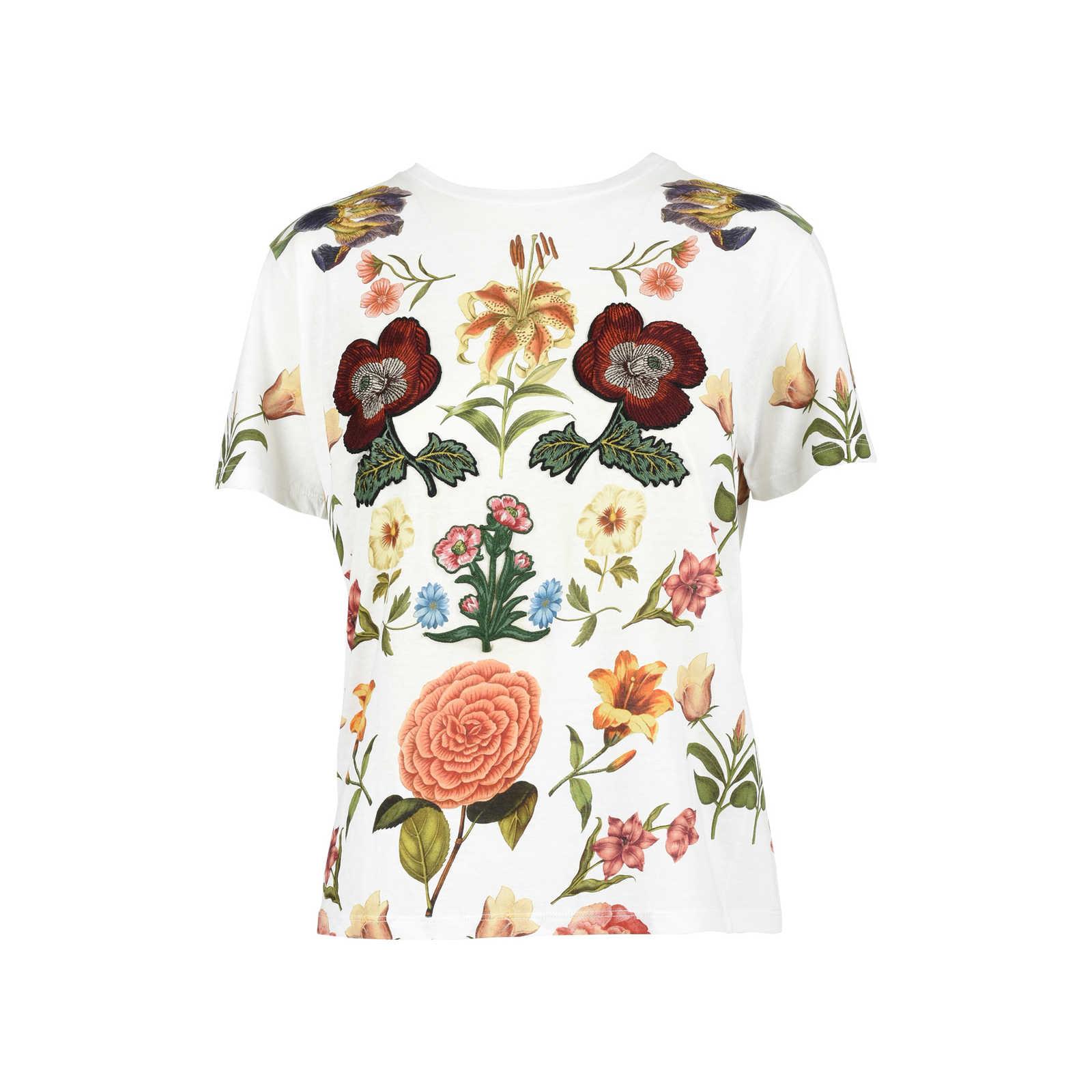 334229812af Authentic Second Hand Gucci Floral Appliqué T-shirt (PSS-051-00361) ...