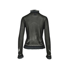 Chanel pleated trim cardigan 2?1528445933