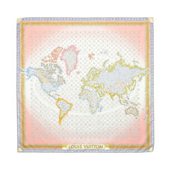 Monogram Map Silk Scarf
