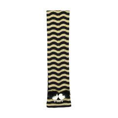 Fendi striped monster fur trimmed scarf 2?1528694630
