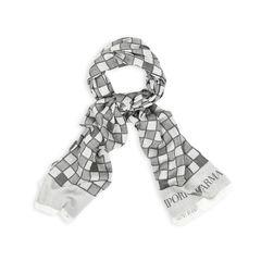 Grey Checkered Scarf