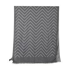 Emporio armani dark grey chevron scarf 2?1528694773