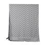 Authentic Second Hand Emporio Armani Dark Grey Chevron Scarf (PSS-200-01255) - Thumbnail 2