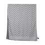 Authentic Second Hand Emporio Armani Dark Grey Chevron Scarf (PSS-200-01255) - Thumbnail 3