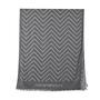 Authentic Second Hand Emporio Armani Dark Grey Chevron Scarf (PSS-200-01255) - Thumbnail 4