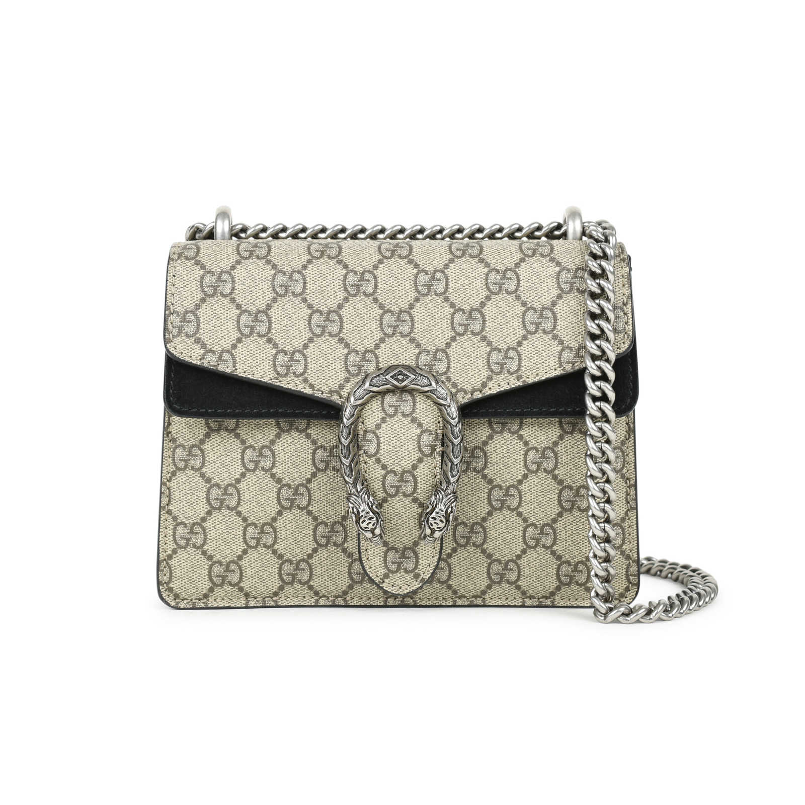 a817ee570a97 Authentic Second Hand Gucci Dionysus Monogram GG Supreme Mini Bag  (PSS-240-00220 ...