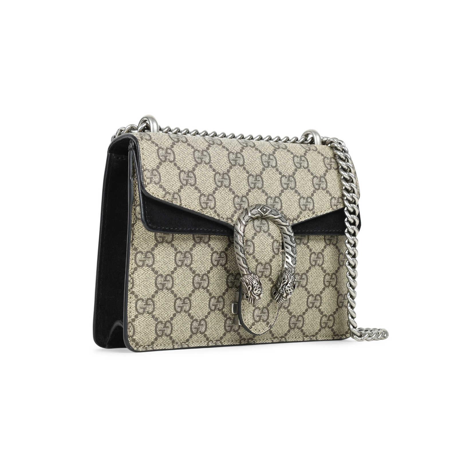 14b04b26a ... Authentic Second Hand Gucci Dionysus Monogram GG Supreme Mini Bag  (PSS-240-00220 ...
