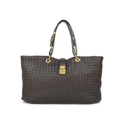 Authentic Second Hand Bottega Veneta Intrecciato Woven Nappa Capri Tote Bag (PSS-472-00008)