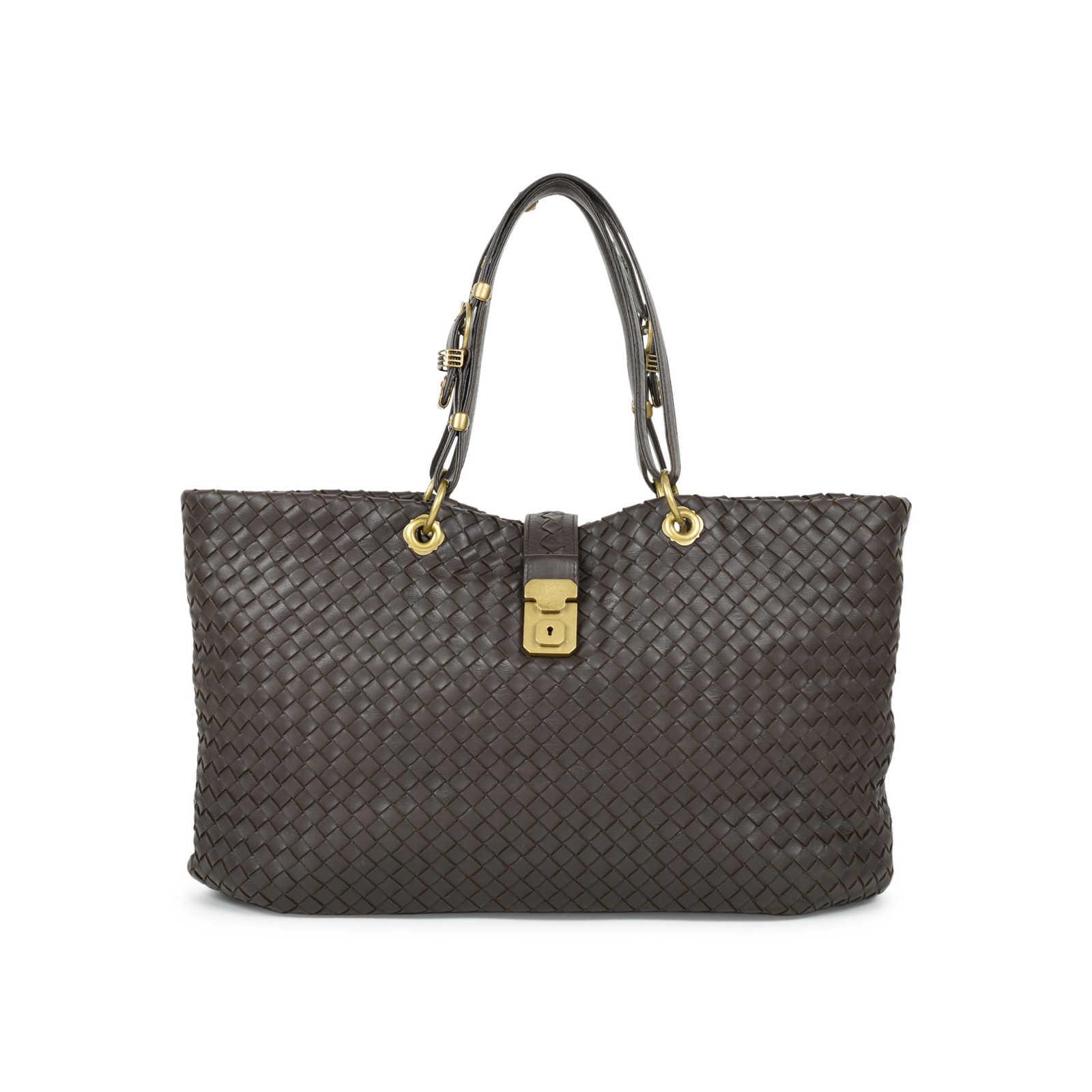 653ac2b957 Authentic Second Hand Bottega Veneta Intrecciato Woven Nappa Capri Tote Bag  (PSS-472- ...