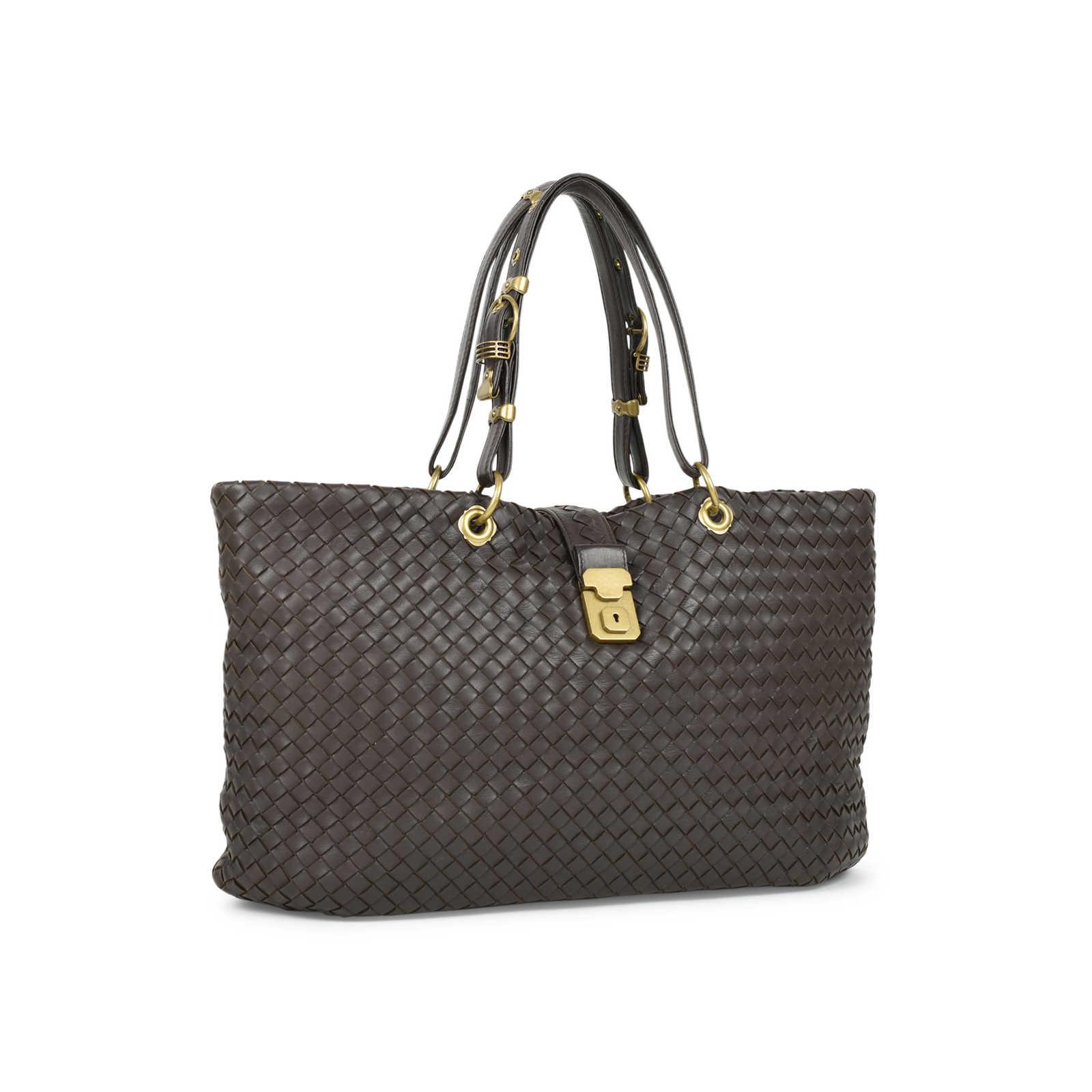 4bba66cccd ... Authentic Second Hand Bottega Veneta Intrecciato Woven Nappa Capri Tote  Bag (PSS-472- ...