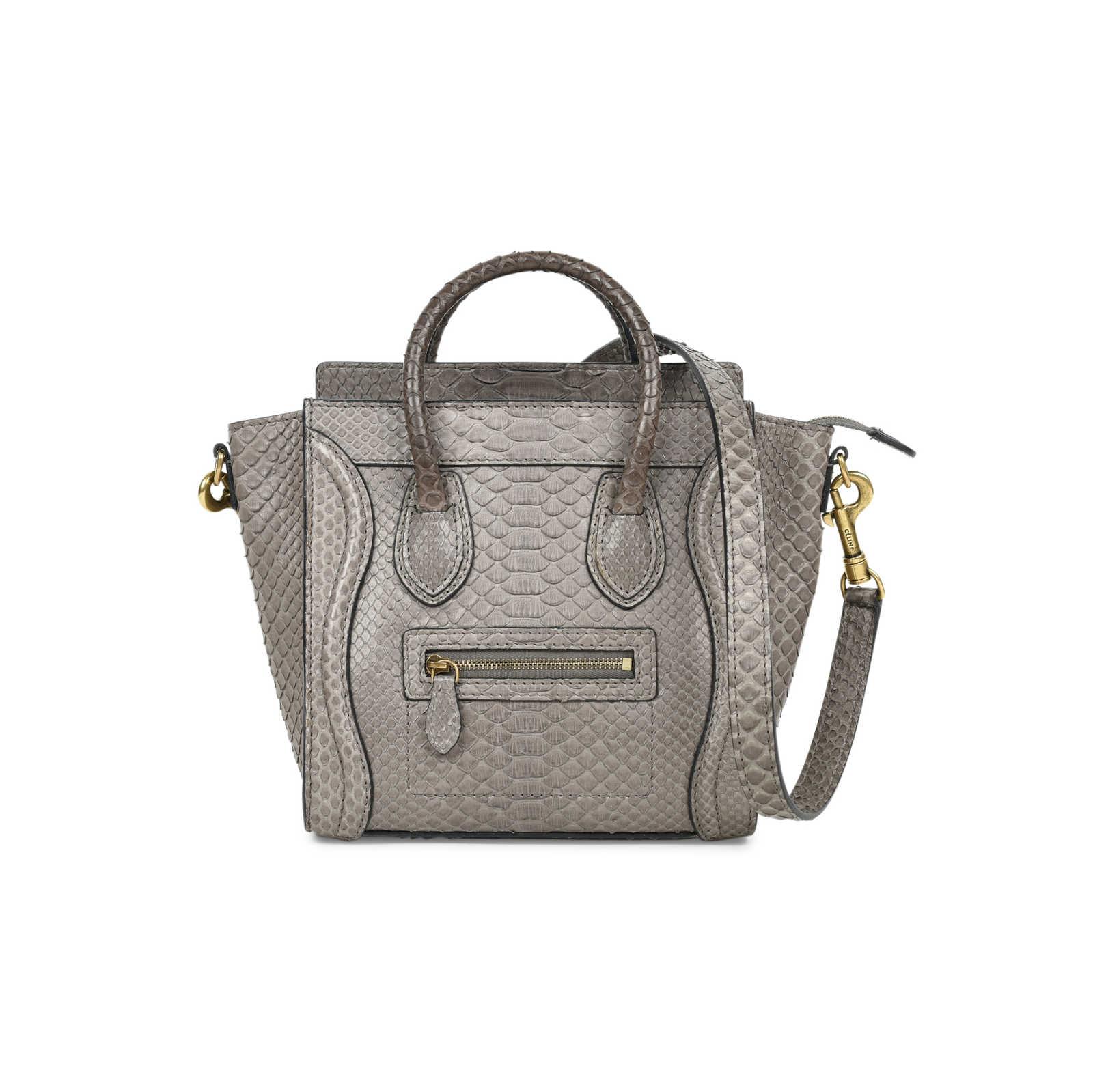 Authentic Second Hand Céline Python Nano Luggage (PSS-470-00040) -  Thumbnail ... ca883b961b14c