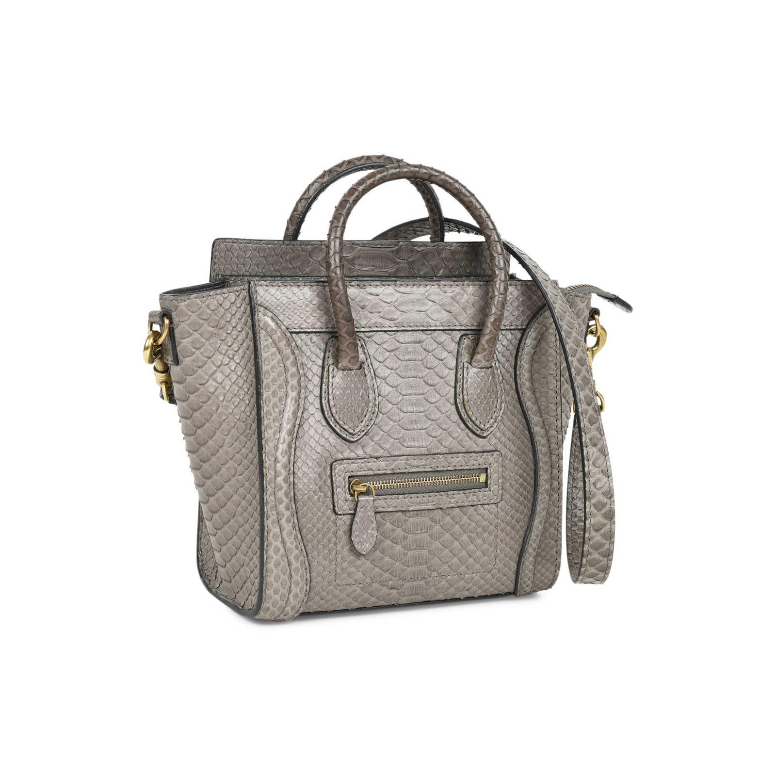 ... Authentic Second Hand Céline Python Nano Luggage (PSS-470-00040) -  Thumbnail ... bc9dfe967dd05