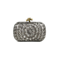Metallic Knot Clutch