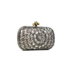 Bottega veneta pochette knot metallic clutch 2?1528870763