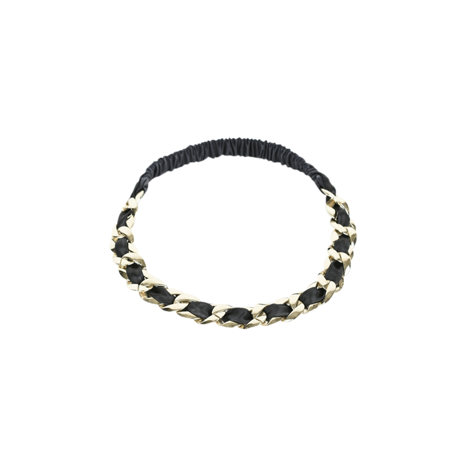 Authentic Pre Owned Chanel Satin Chain Headband (PSS-470-00059 ... 6df06051c07