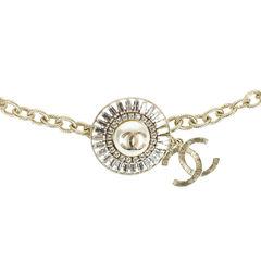 Rhinestone Medallion Chain-Link Belt