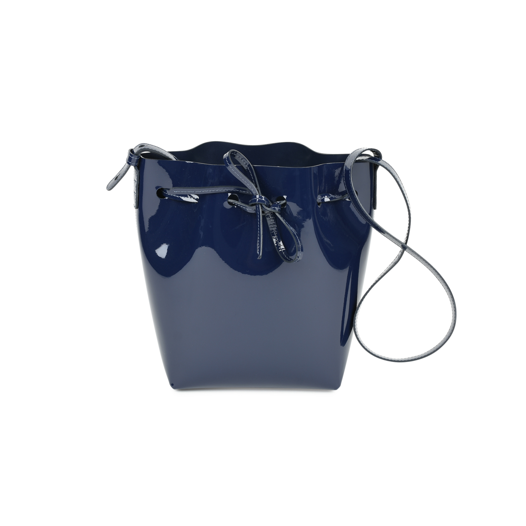 Authentic Second Hand Mansur Gavriel Mini patent-leather bucket bag  (PSS-034-00018)