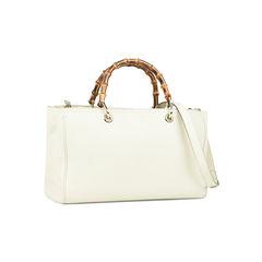 Gucci bamboo shopper tote white 2?1528880906