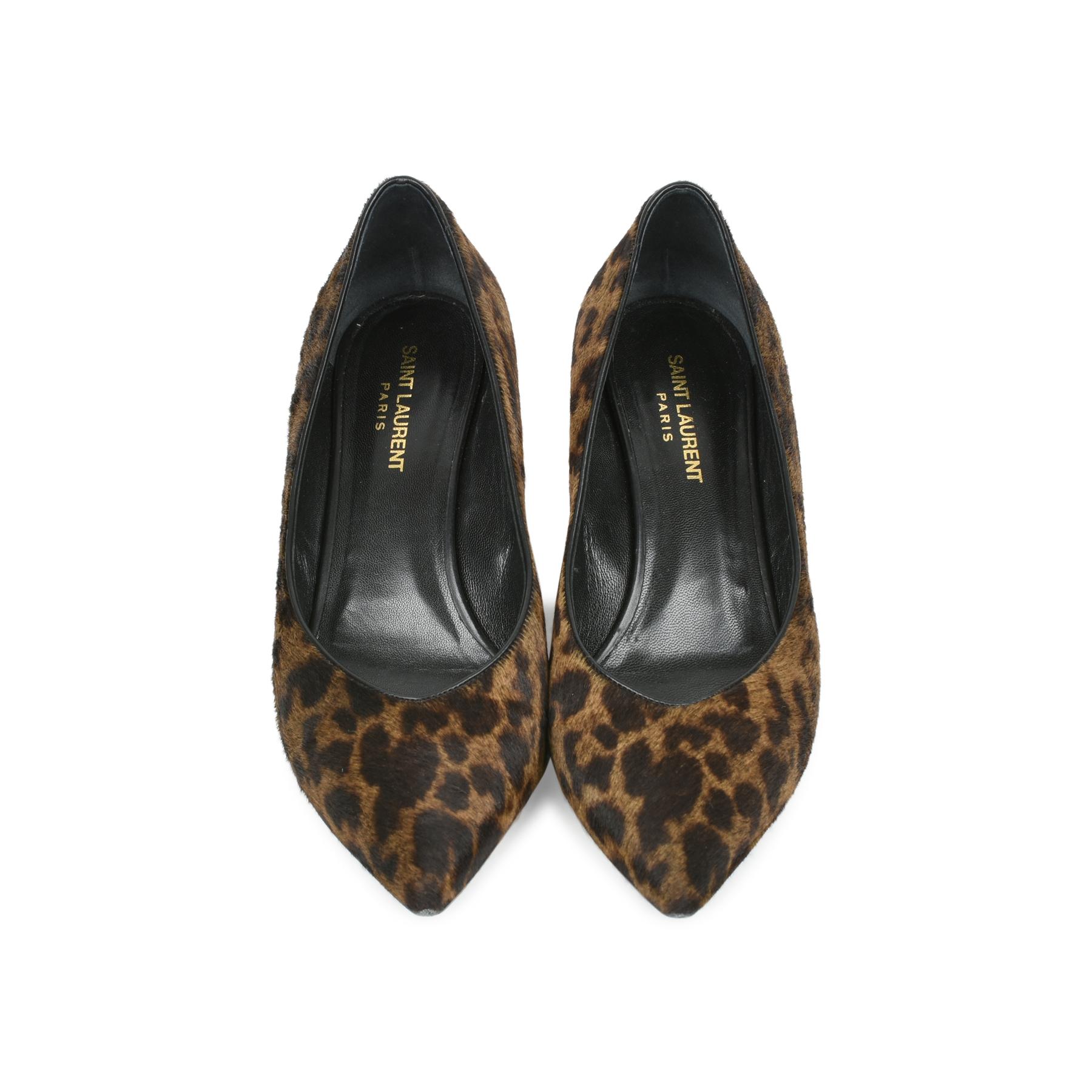 38c176e030f Authentic Second Hand Saint Laurent Leopard Kitten Heel Pumps  (PSS-470-00056)