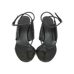 Snakeskin Embossed Sandals