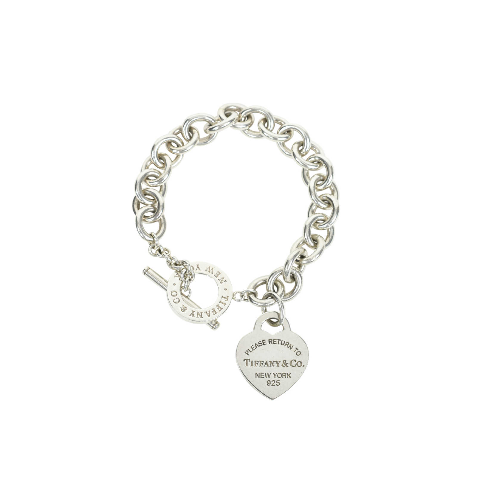 Authentic Second Hand Tiffany Co Heart Tag Toggle Bracelet