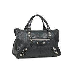 Balenciaga giant work motorcycle bag black 2?1529478714