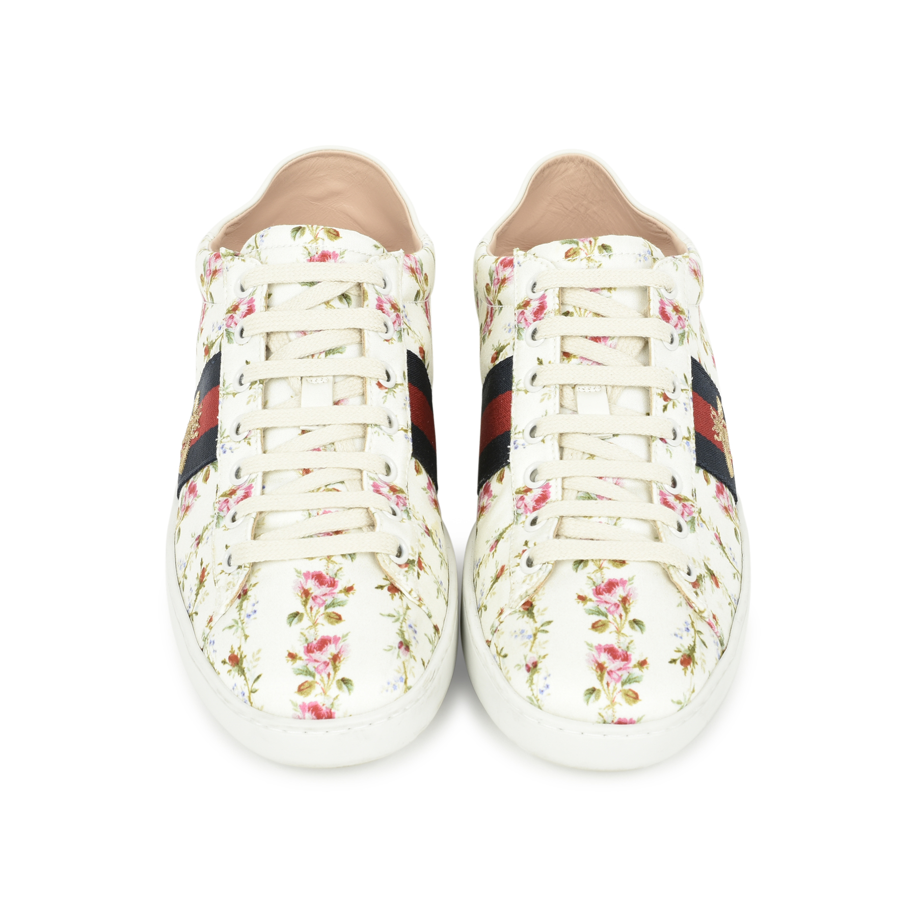 c1aad3c774a Authentic Second Hand Gucci Ace Rose Print Sneakers (PSS-503-00005) - THE  FIFTH COLLECTION