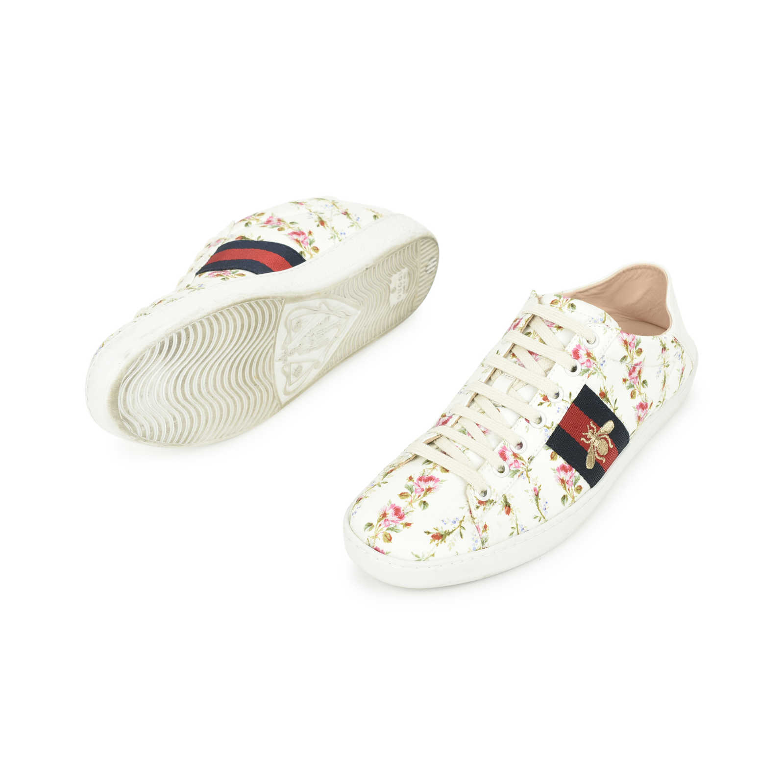 5a604e9af ... Authentic Second Hand Gucci Ace Rose Print Sneakers (PSS-503-00005) ...