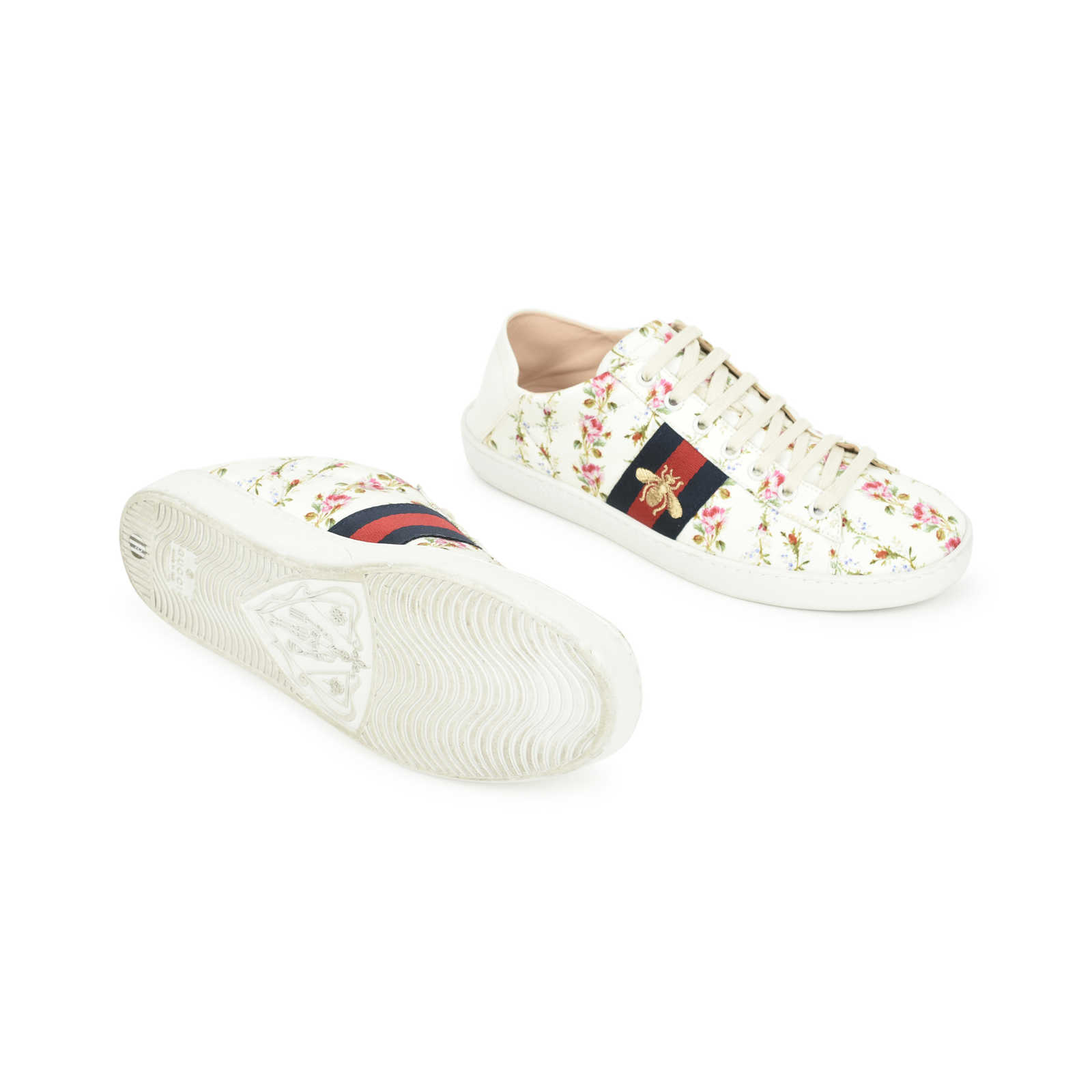 328fa49b939 ... Authentic Second Hand Gucci Ace Rose Print Sneakers (PSS-503-00005) ...