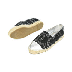 Chanel two tone logo espadrilles black 2?1529480025